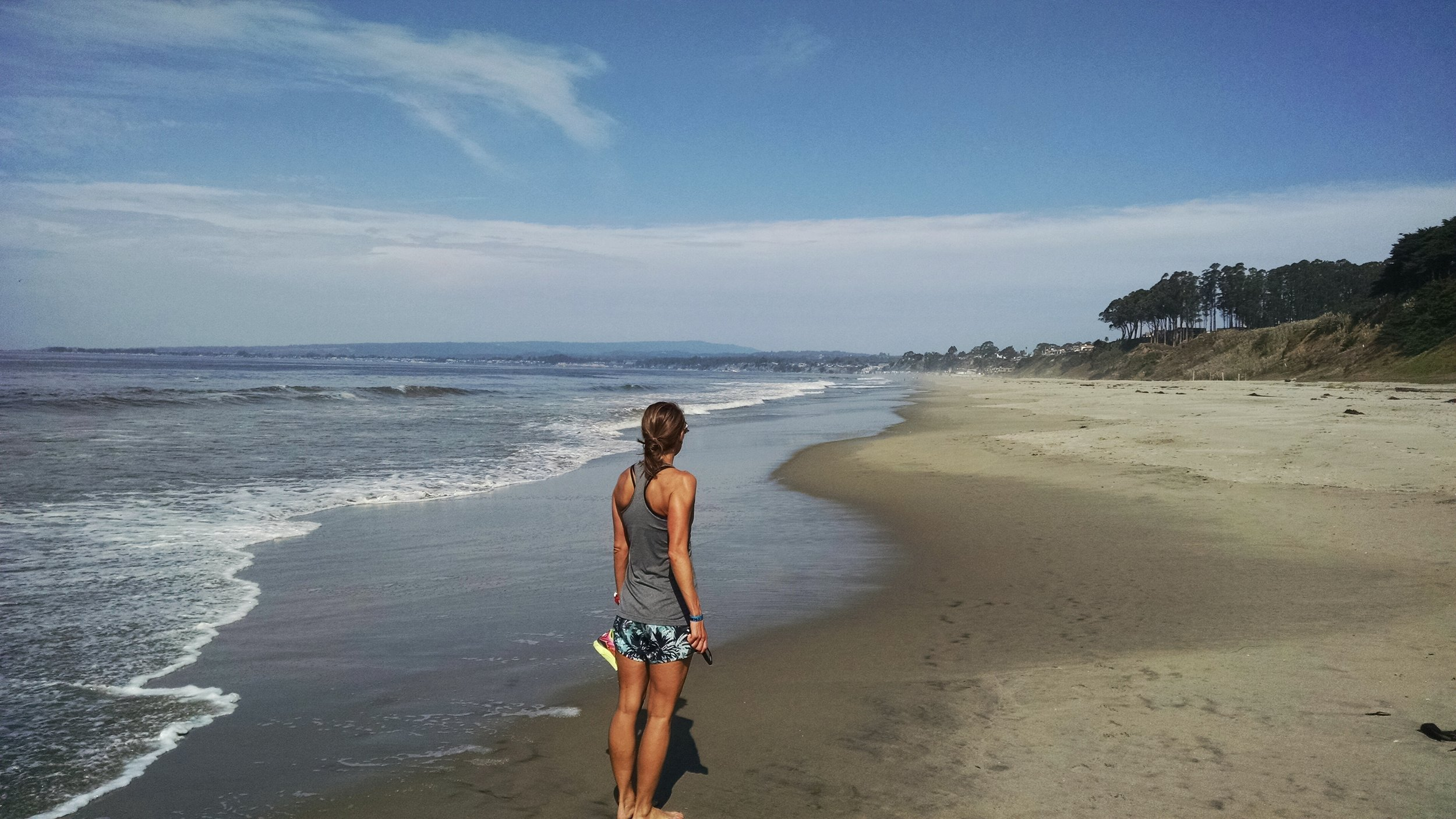 And one of the best parts about racing is having the chance to explore new places. In this case, I had the chance to visit family outside Santa Cruz and enjoyed a nice morning walk along the beach the day after the race. No better way to recover.