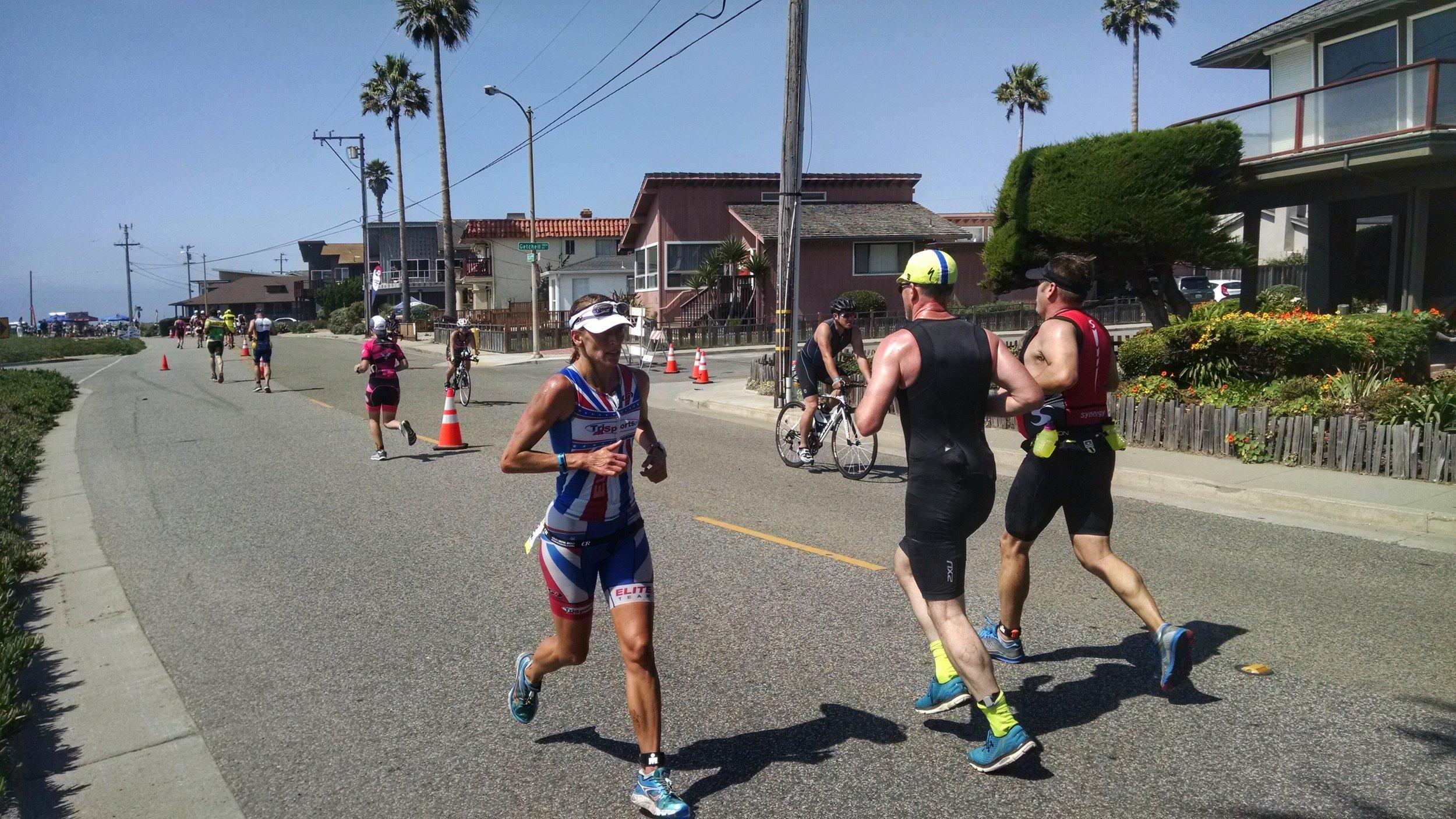 The run at Santa Cruz 70.3