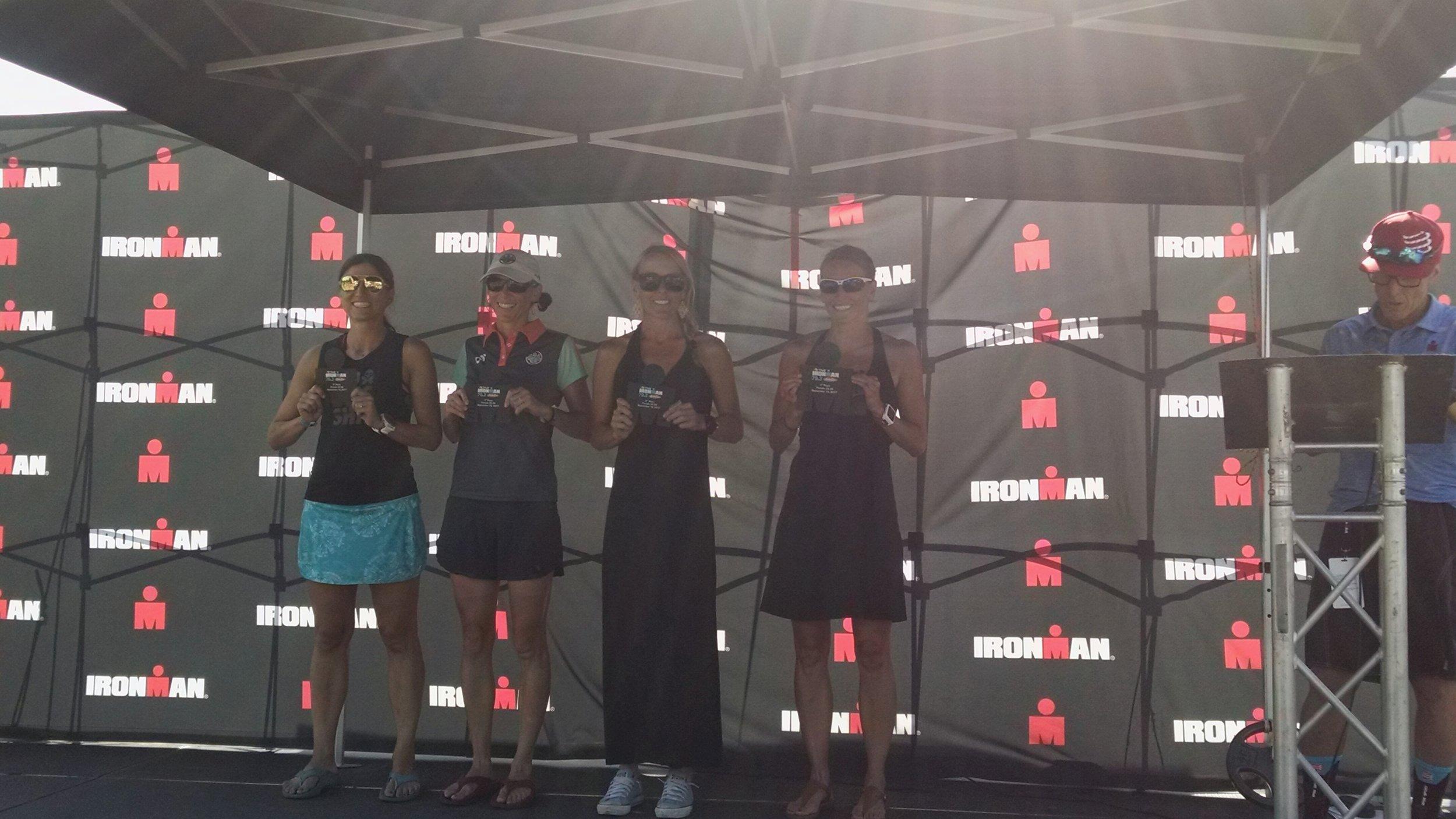 The podium at Santa Cruz 70.3