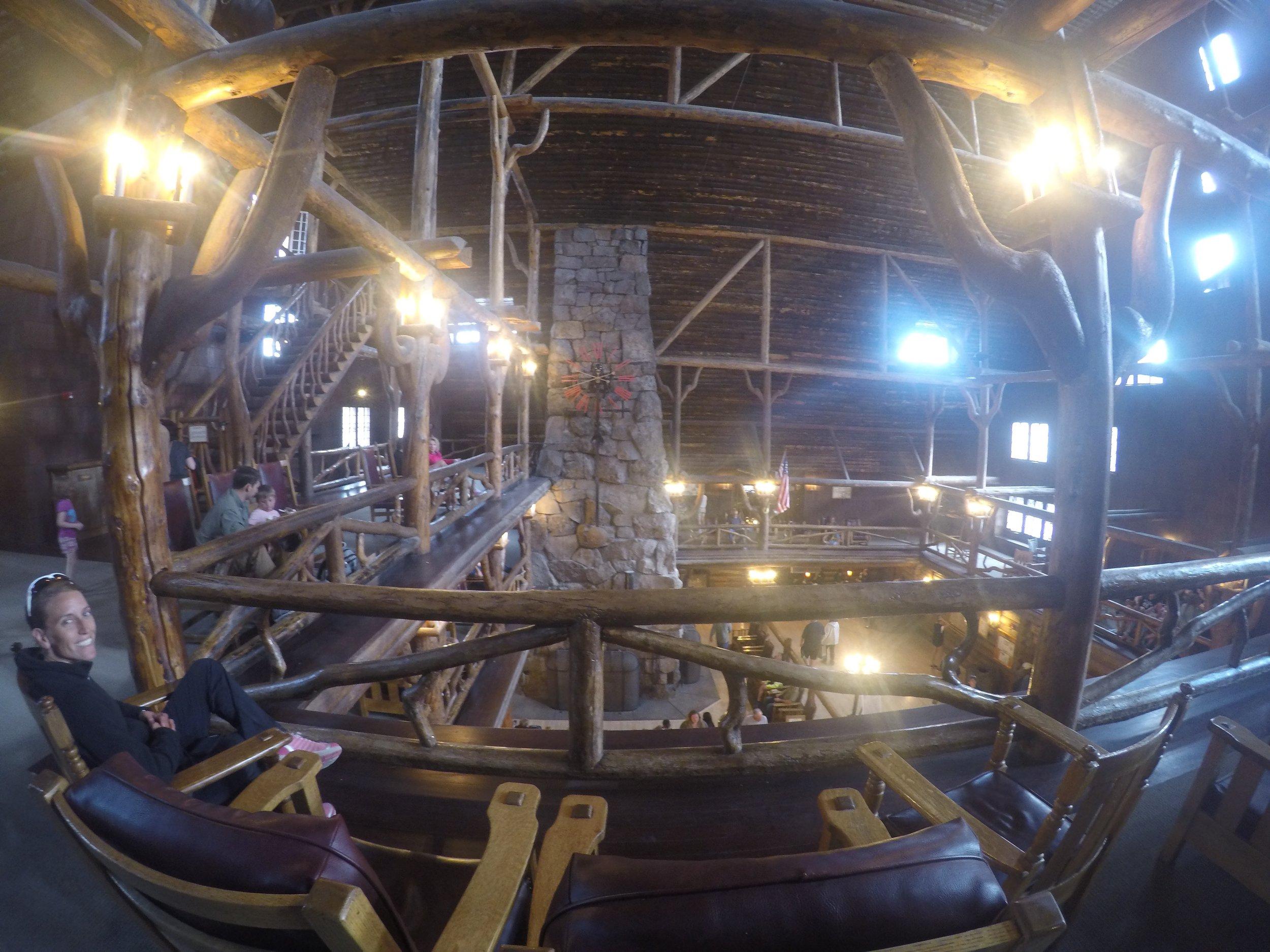 Inside the lodge at Old Faithful
