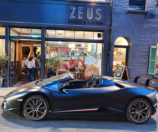Valet parking now available @zeuscanterbury with security if required! 😂 One of our customers vehicles from last night 1 of 30! #lamborghini #huracan #performante #spyder #valetparking #zeuscanterbury #nofilterneeded