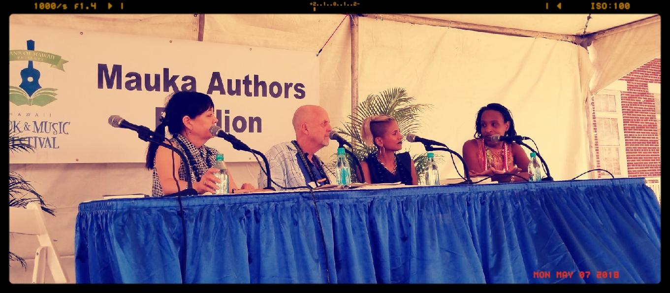 Left to right - Linda Watanabe McFerrin, Ron Koertge, Sonia Patel, Nicola Yoon