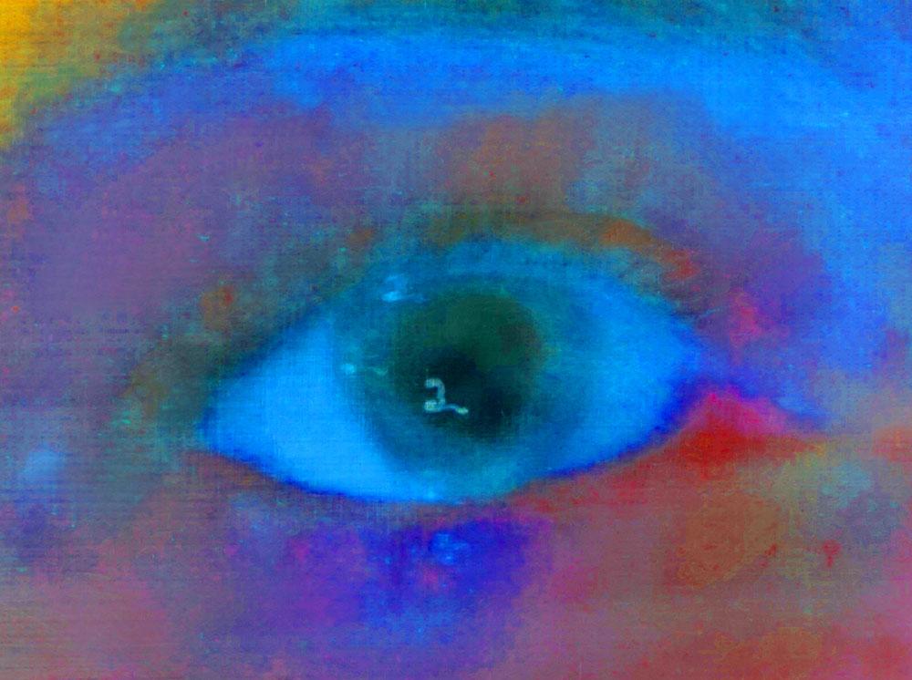 """Seeing eye,"" alternative process photo, 34 X 45 in., © 2017 Bill Travis"