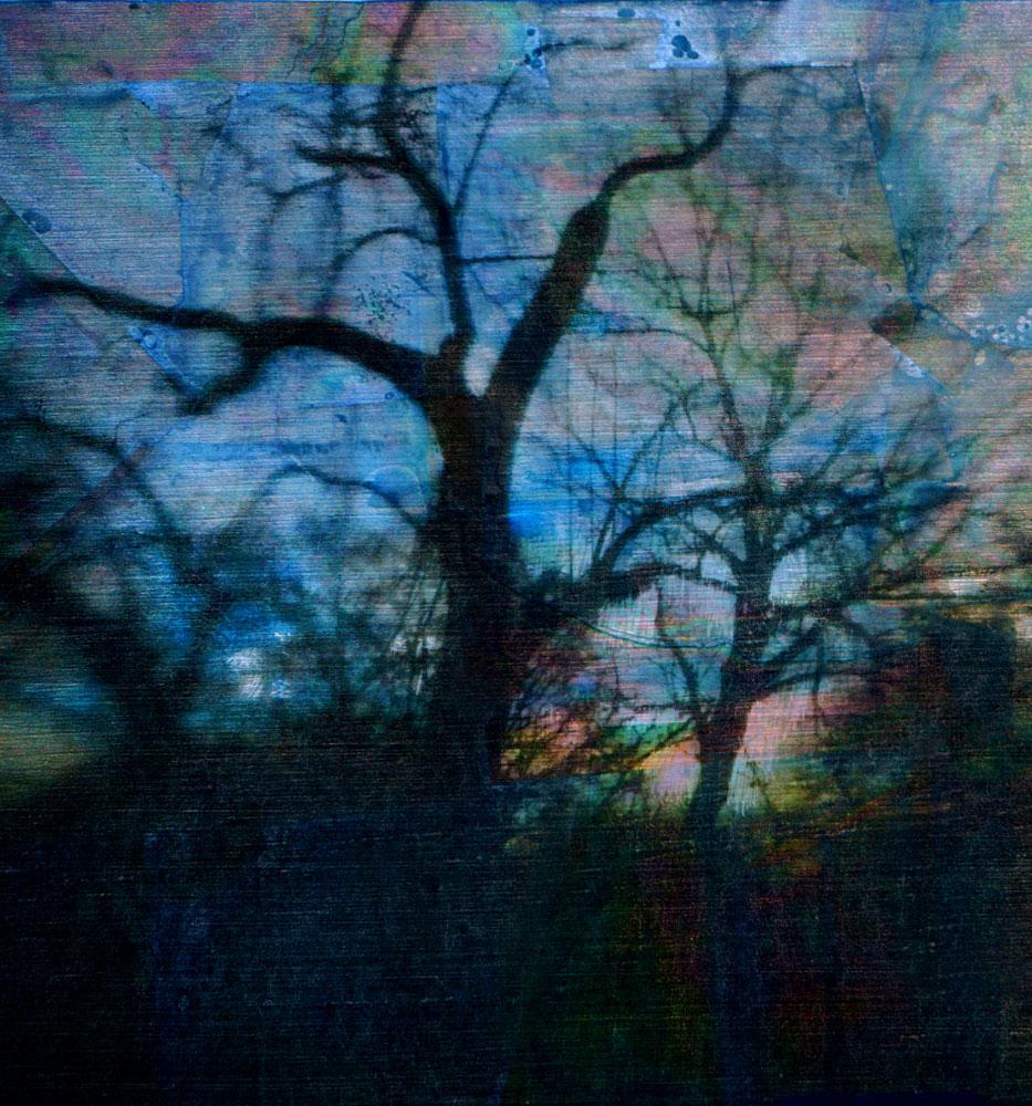 """Sunset,"" alternative process photo, 18 X 17 in., © 2018 Bill Travis"
