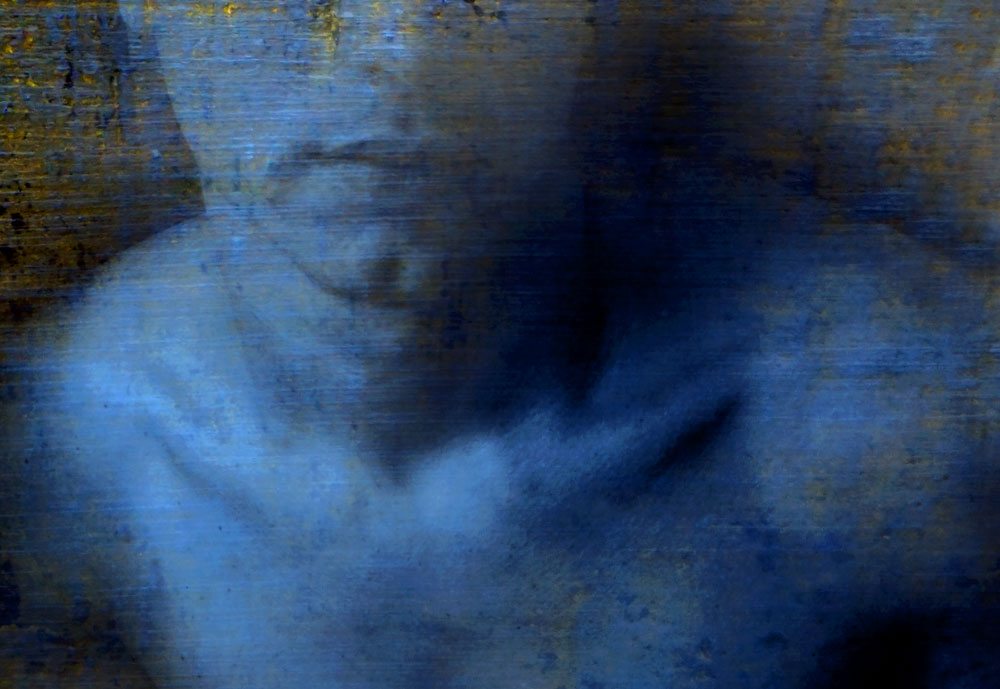 """Blue light,"" alternative process photo, 15 ¾ X 23 in., © 2018 Bill Travis"
