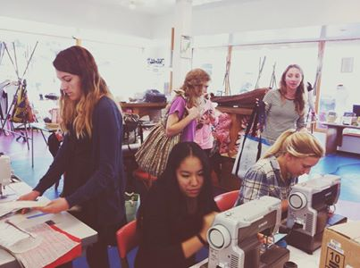 Fun happening at the center! Shout out to Earnest for the new sewing machines that the Pier Pressure team LOVES.     #art #design #sewing #pierpressure #funkzone #youthinteractive #santabarbara #art