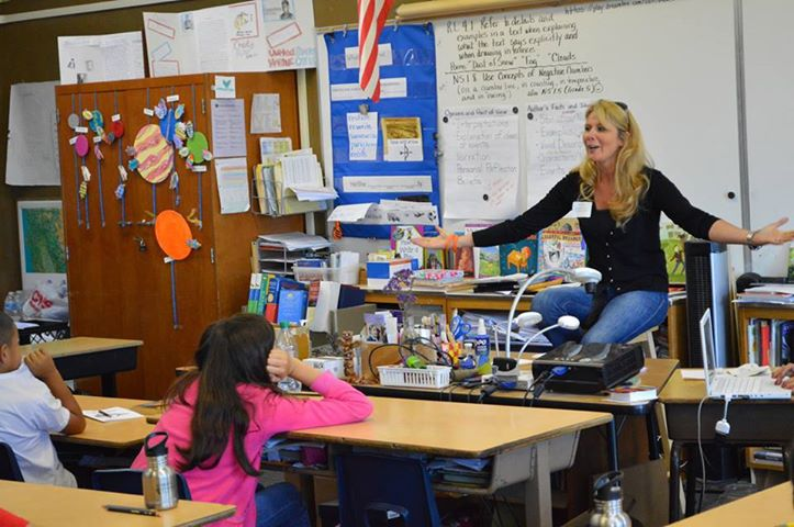 Much fun had by all! Nathalie Gensac our Founder doing a career day at Cleveland School for Partners in Education!