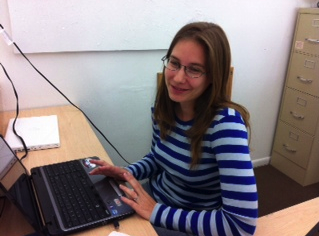 Virginia Schoeps working hard on our data base, thanks to the Santa Barbara Foundation :)