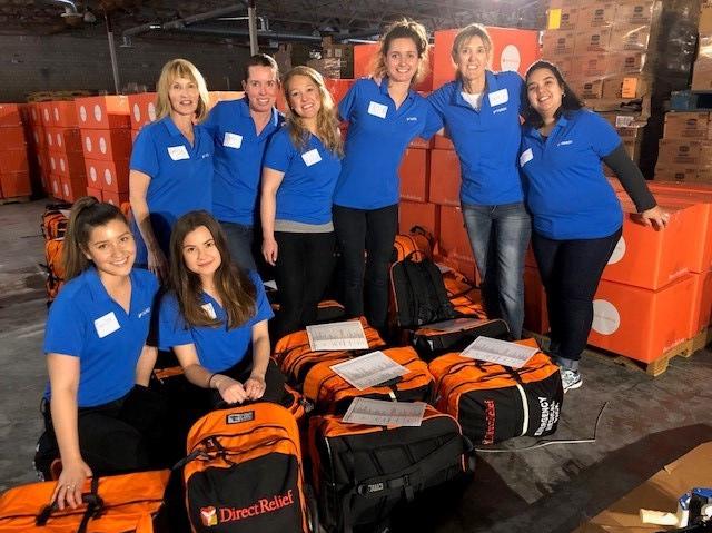 The Yardi HR Team volunteering at Direct Relief