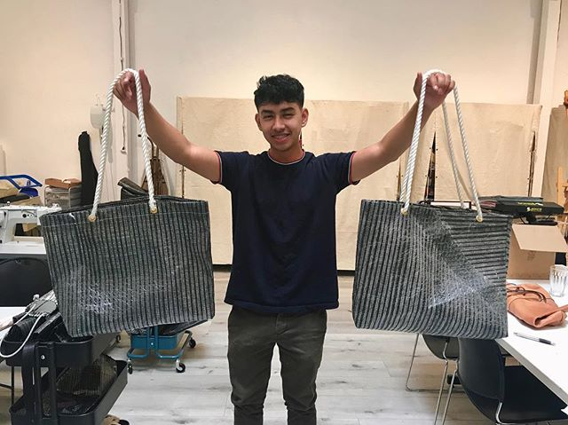 Check out these brand new Anchor Totes handmade by our students on Pier Pressure Designs! They'll be out in the shop SOON, so make sure you come by and see them in person.  #youthinteractive #yishop #anchortote #repurposedsail #sails #sailfabric #nonprofit #youthled #youthbusiness #youthinthearts