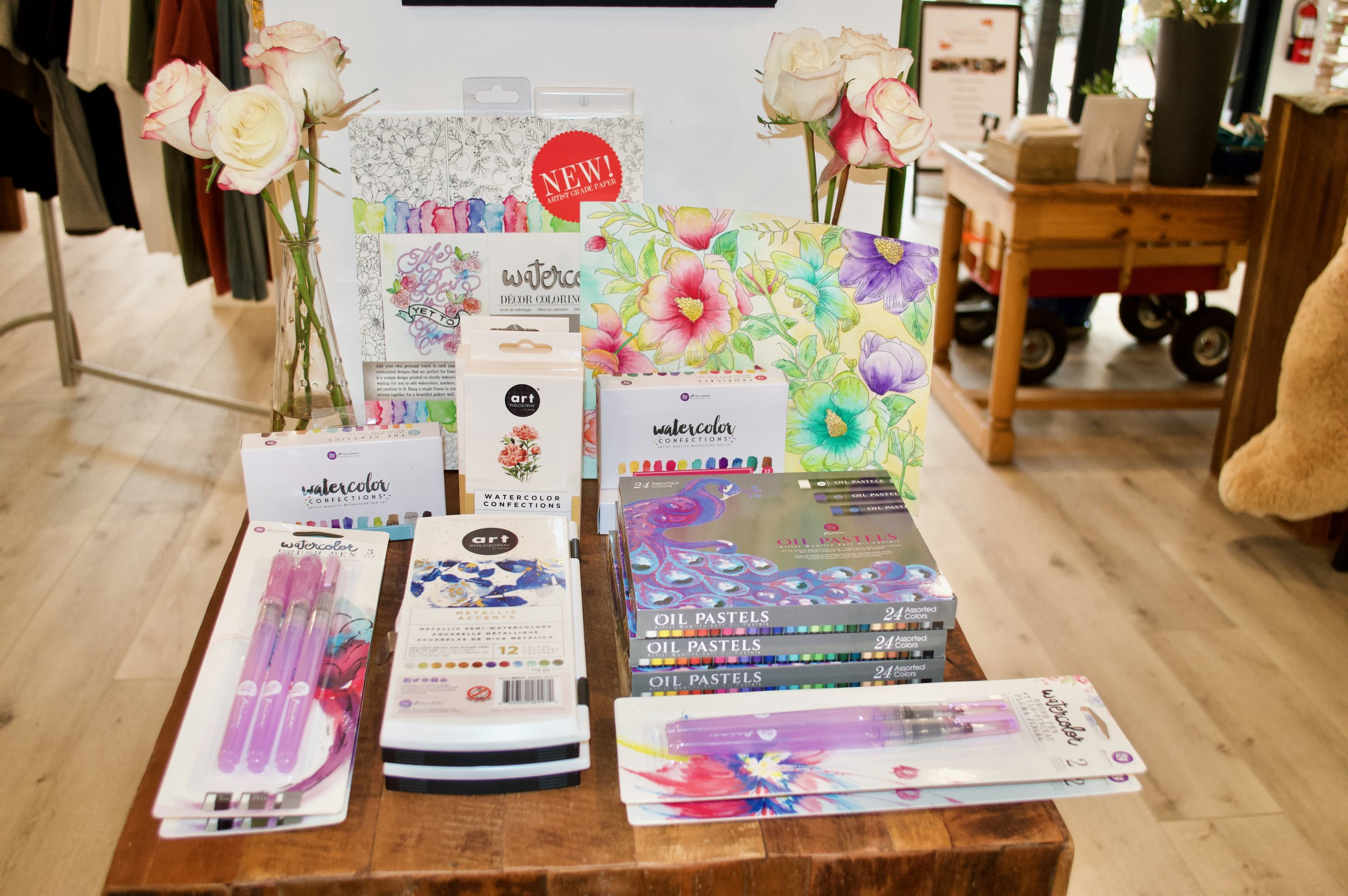 A new vendor,  Art Philosophy , brings us an array of Watercolor products, including watercolor coloring books!