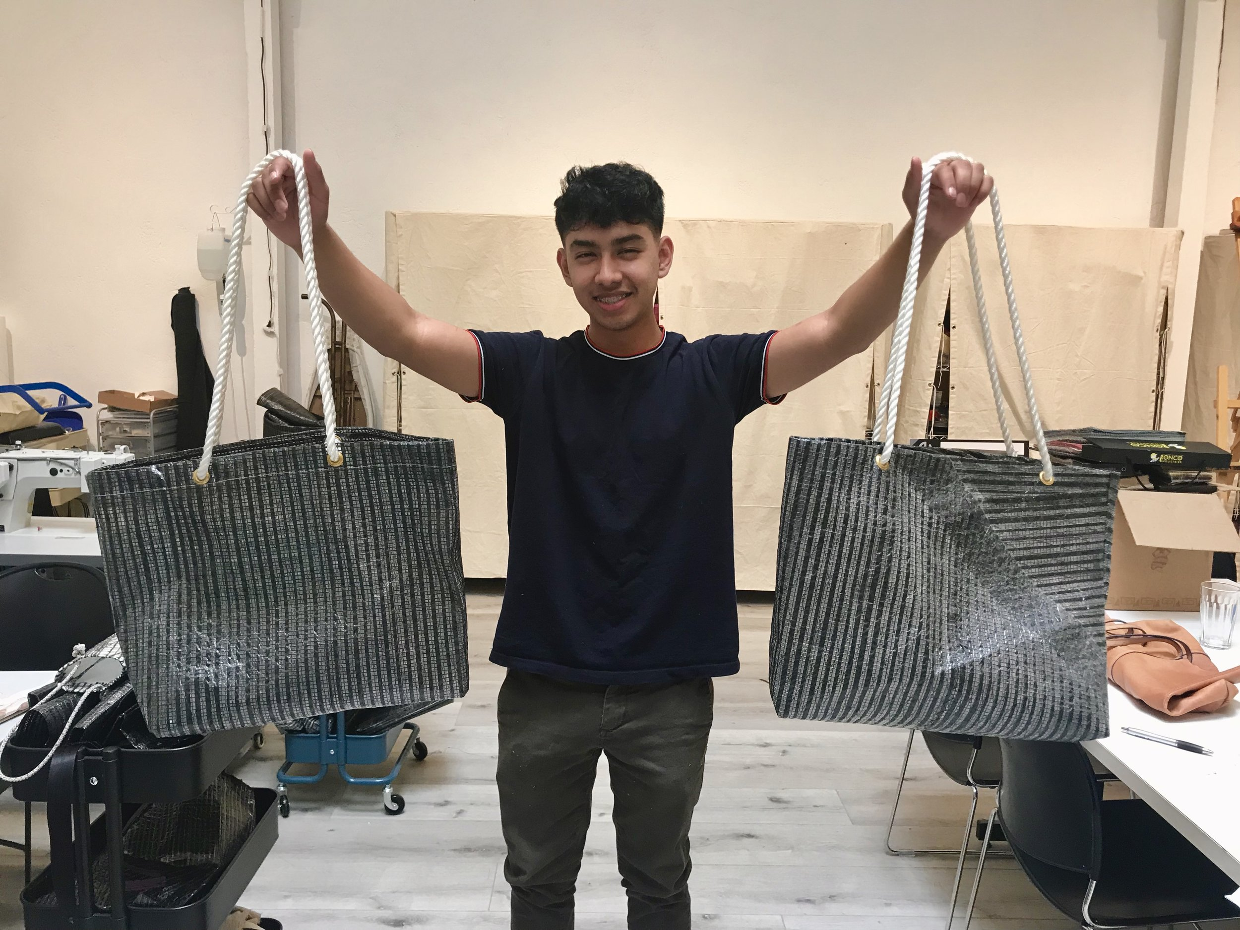 The  Pier Pressure Designs  Student-Led Business has new Anchor Totes (pictured) and coin purses for purchase!