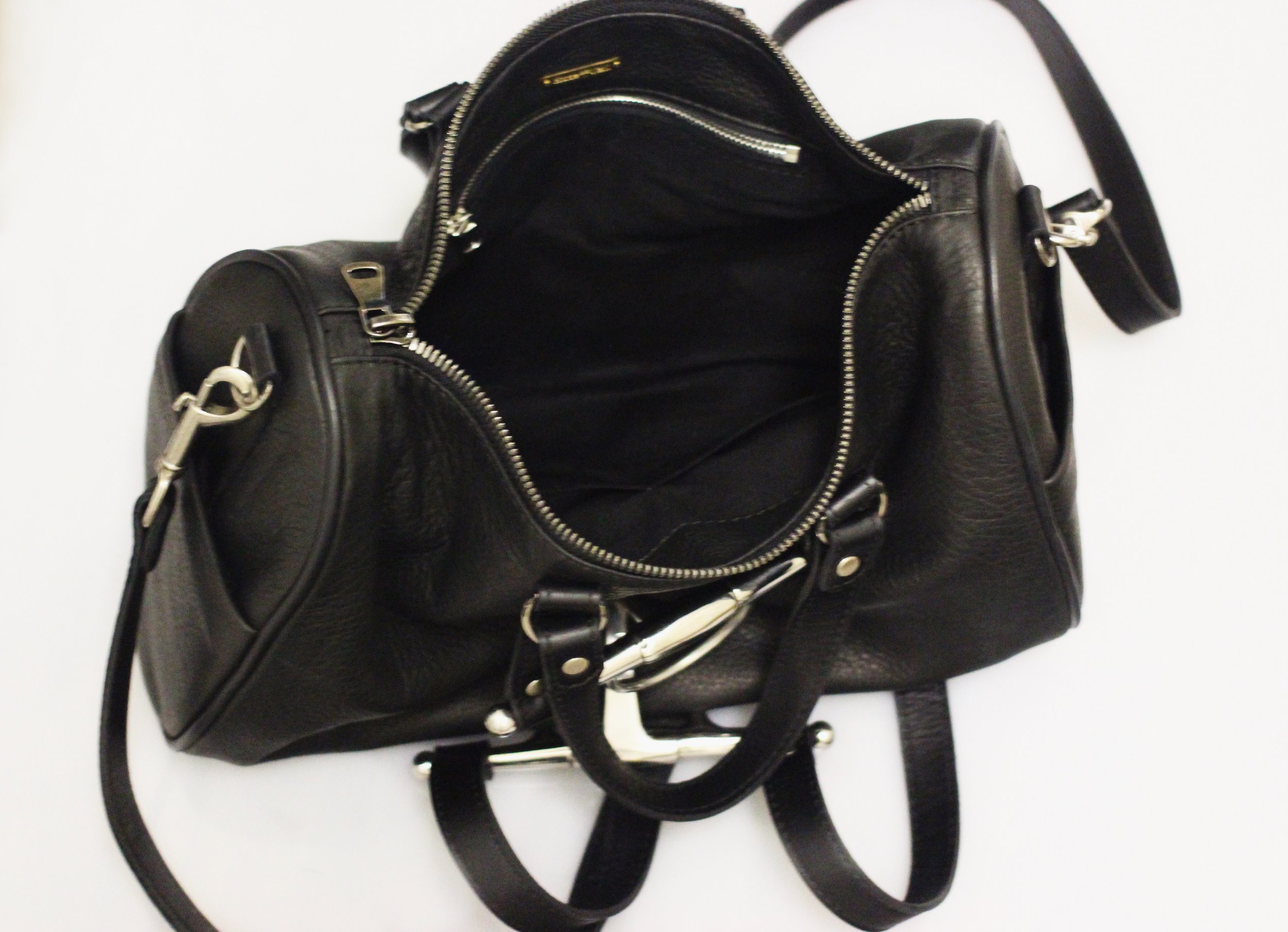 Horse and Nail Rider Duffel Handbag inside
