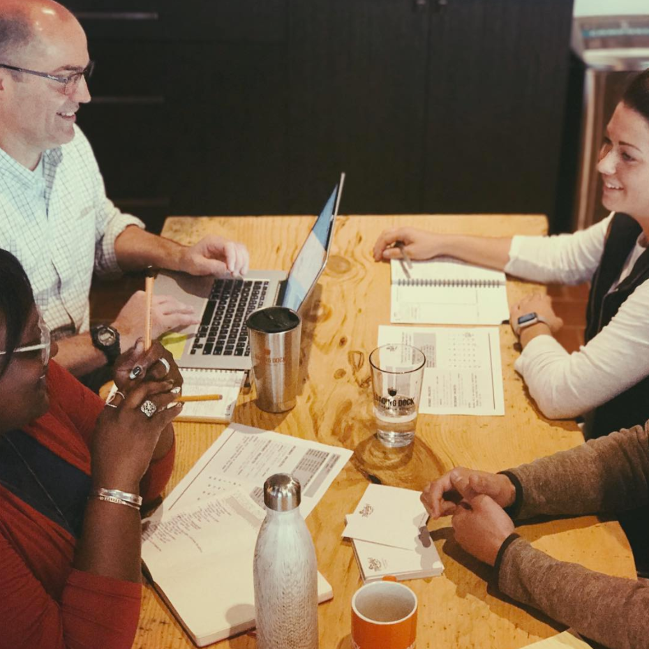 The whole idea of co-workingis to bring bright,creative people togetherand let the ideas collide -