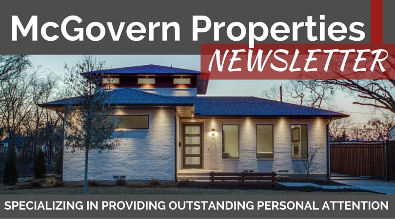 Customized Banner for McGovern Properties Newsletter