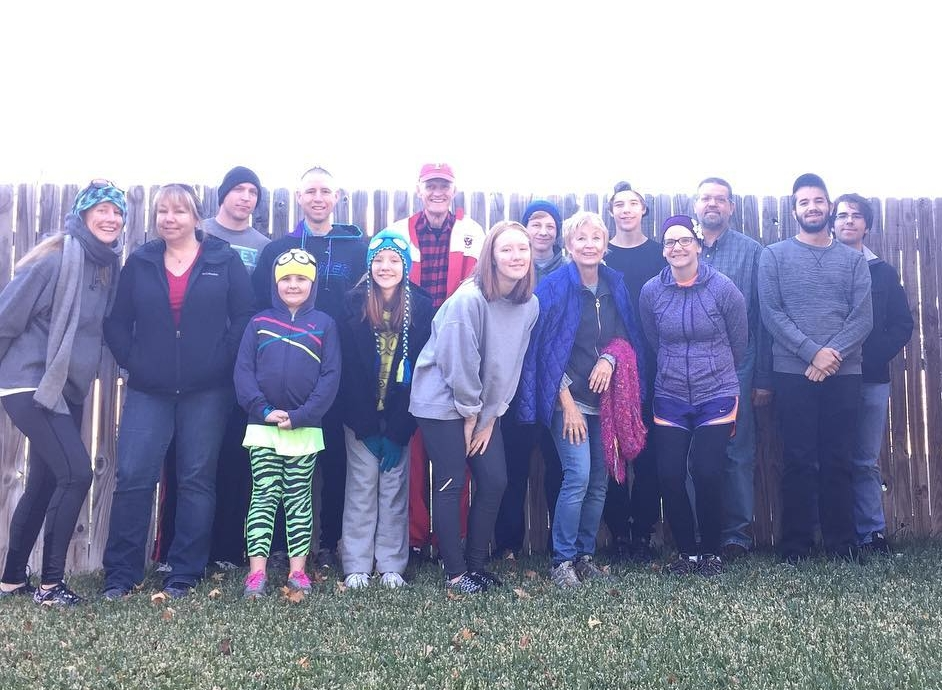 13th Annual Turkey Trot crew (minus a few late comers!)