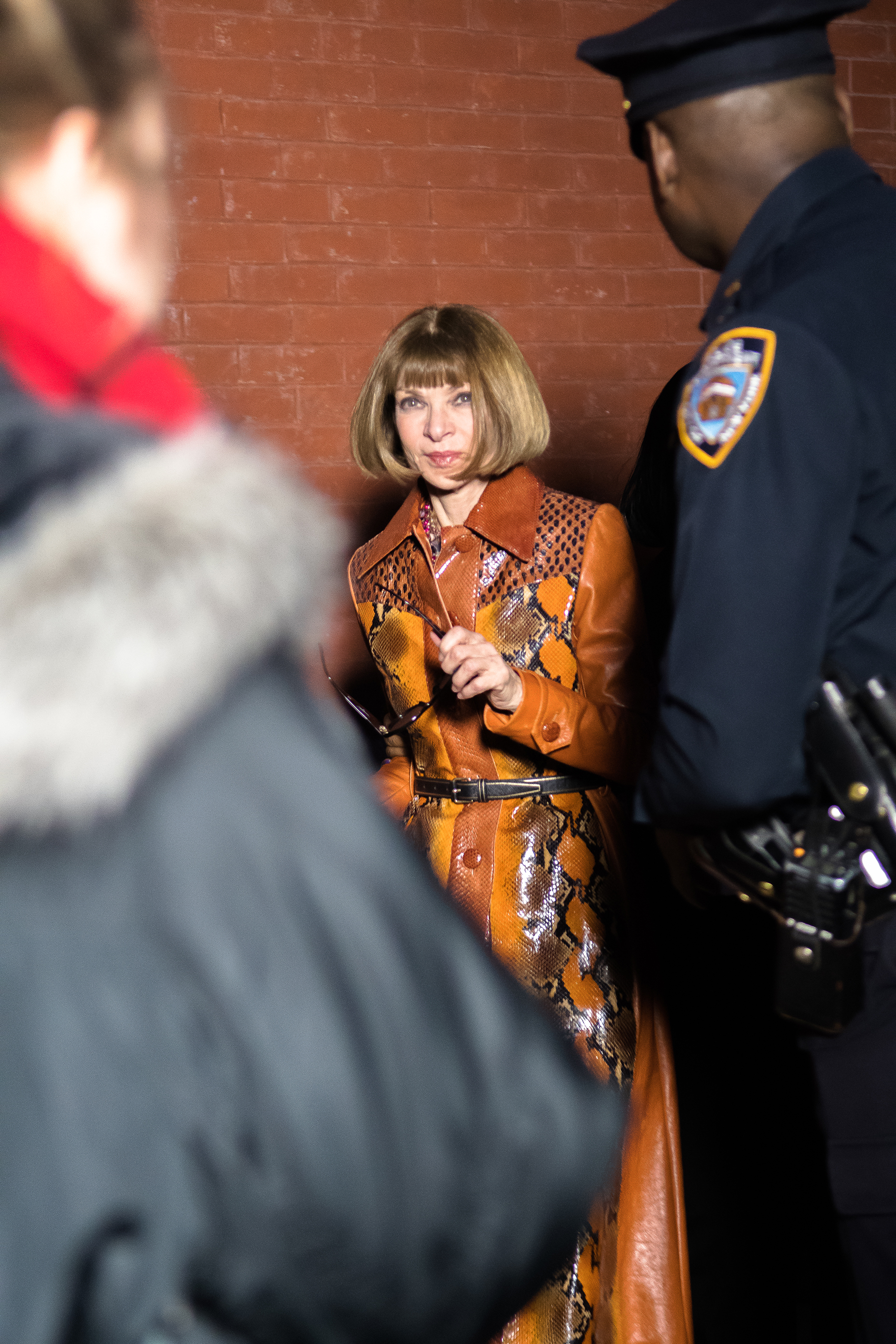 Anna Wintour by Martin Romero, Marc Jacobs Fall Winter 2018, New York Fashion Week, NYC