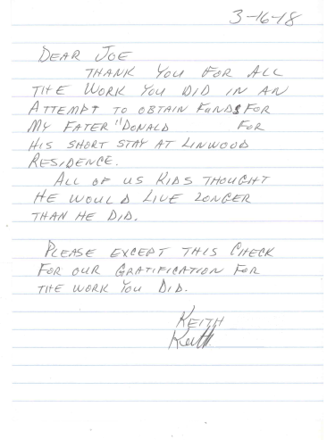 March 16, 2018: From Keith, for his father Donald. Donald is a Korean wartime veteran.