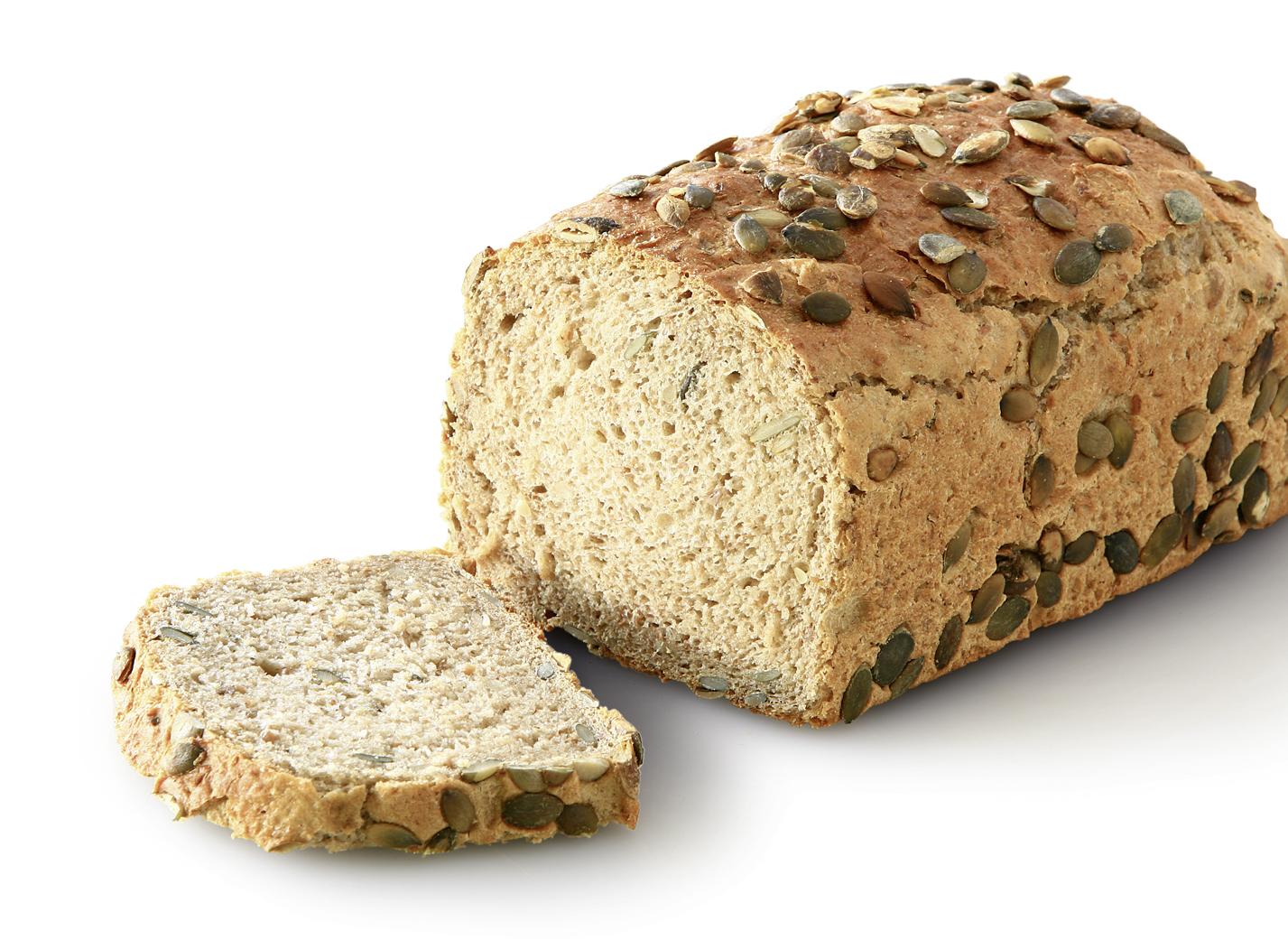 Pumpkin Seed Bread - Wheat bread with 29% wheat flour and 8.5% pumpkin seeds length: 21 cm