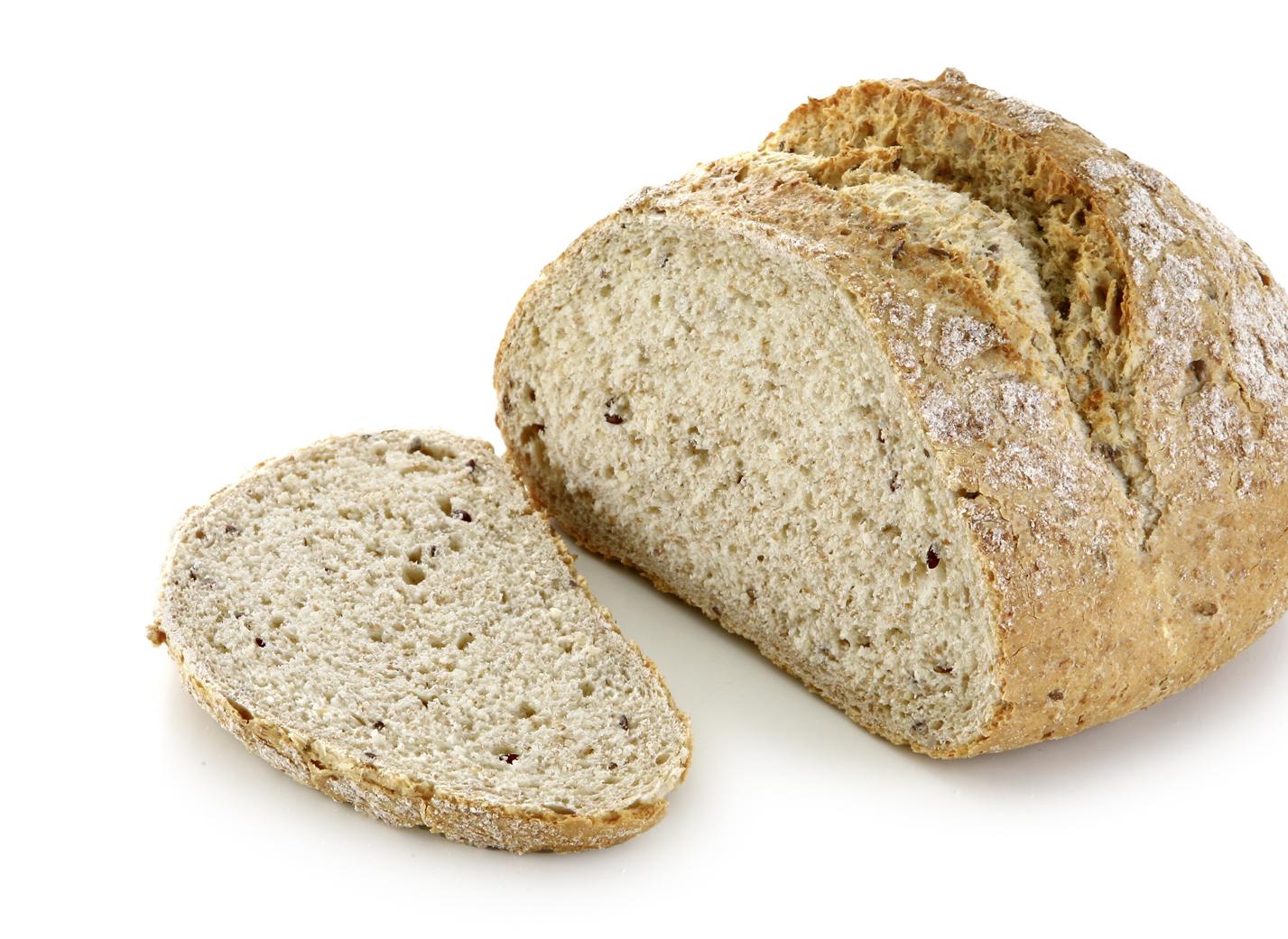 Spelt Bread - With spelt flakes, potato flakes, linseeds, sunflower kernels, sesame and sea salt/ diameter: approx. 18cm