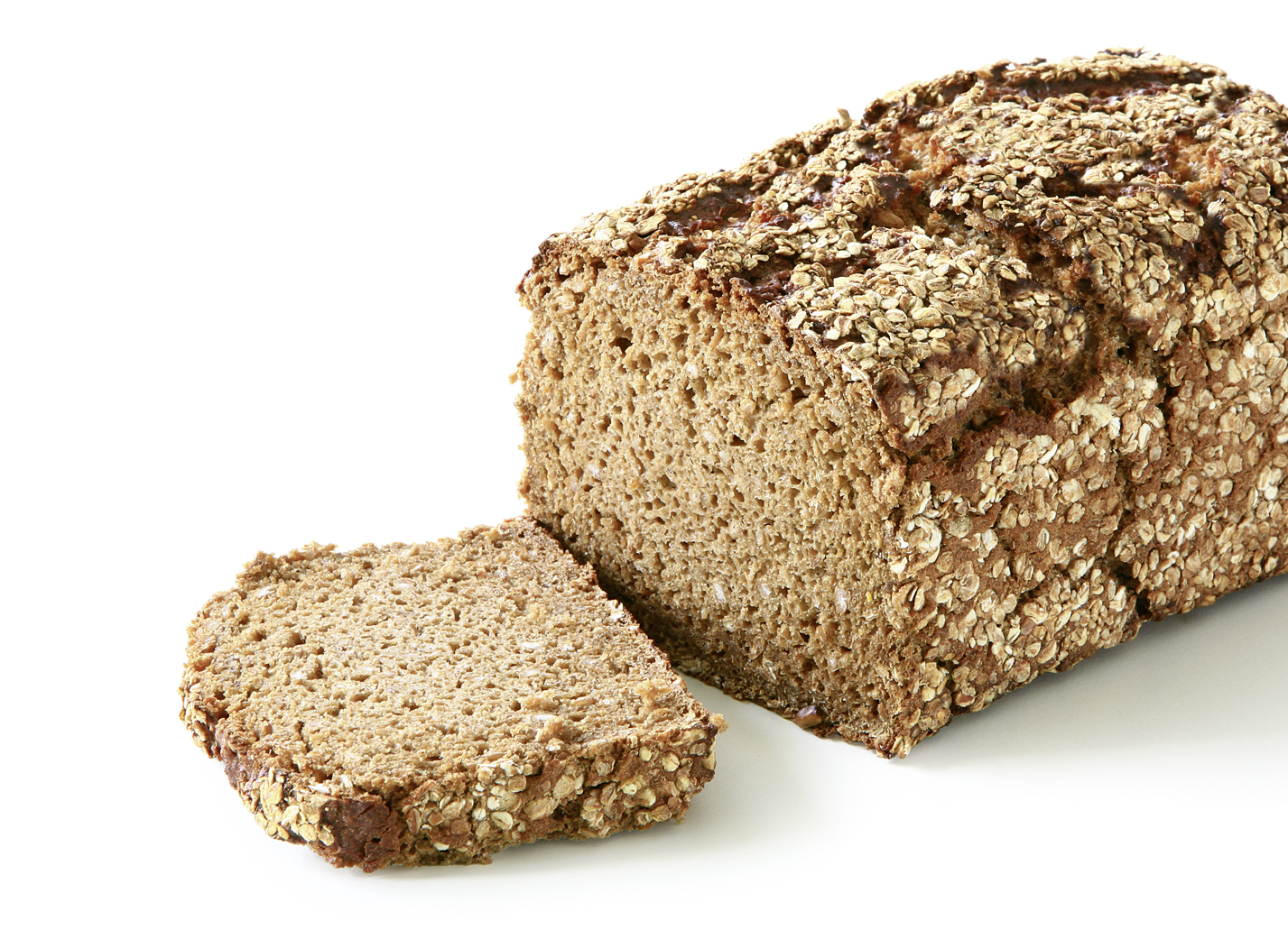 Wholegrain roll - Box-shaped/ equally sprinkled with rye flakes length: 20 cm