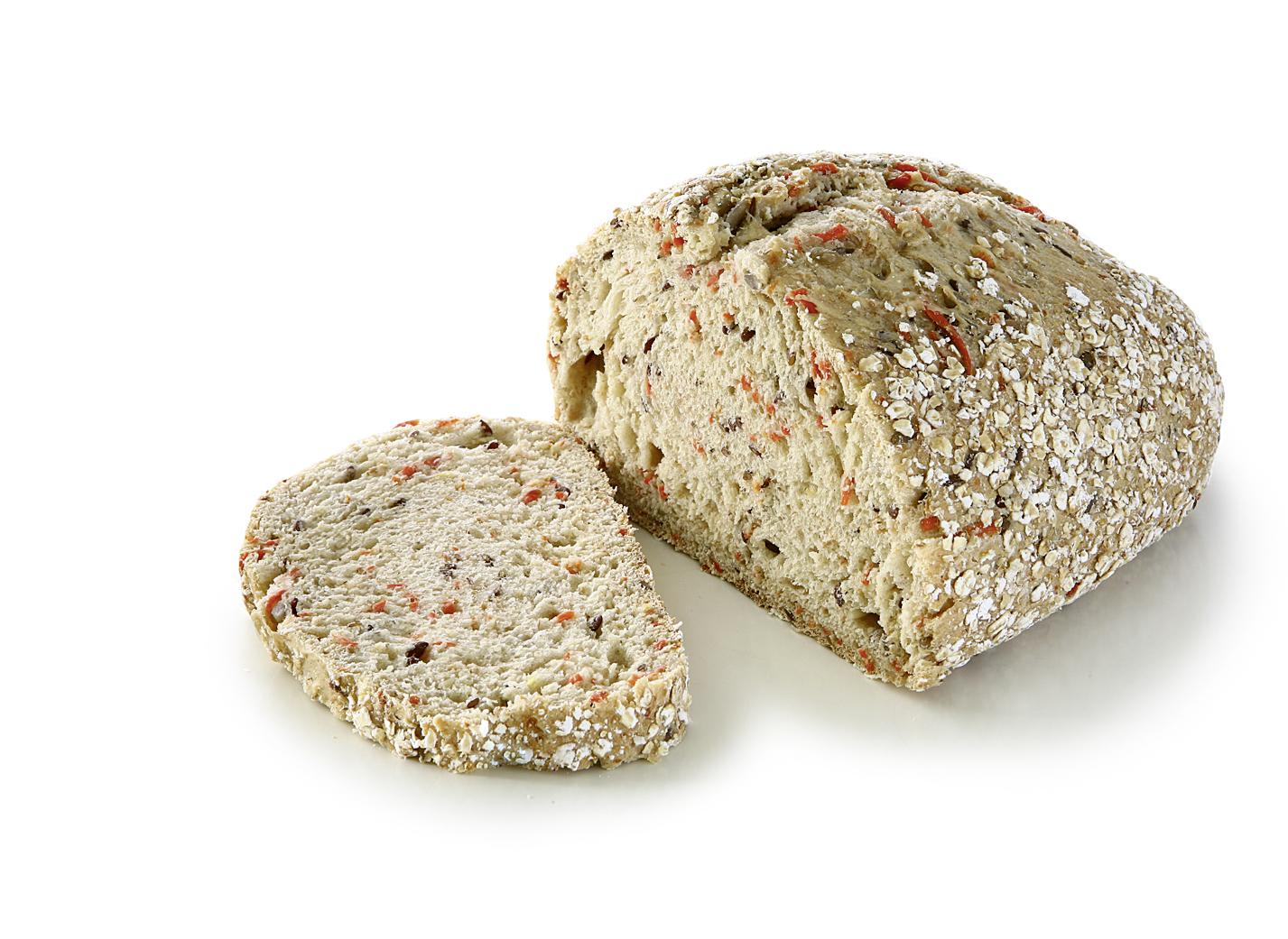 Carrot Multi Grain Bread - Wheat bread with 6% sweet potatoes, potato flakes and rye flour/ lentgh: 27cm