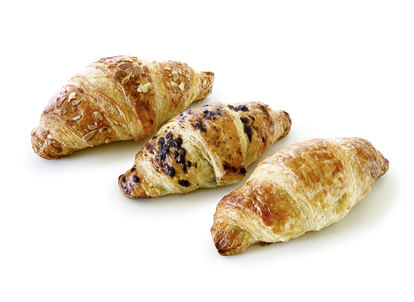 Mini Mix Butter Croissant - Mix of the varieties: nut-nougat, marzipan, apricot
