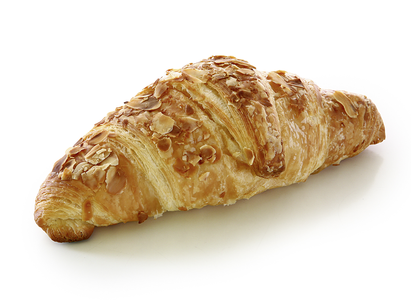 Butter-Croissant with Marzipan Filling - Danish pastry with 19% almonds, 16% butter and almond topping