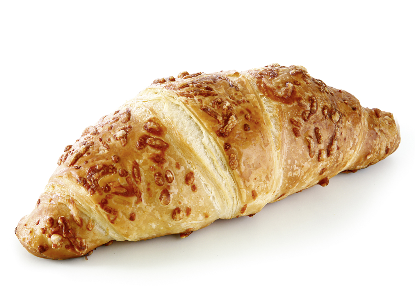 Ham-Cheese- Croissant (cubes) - Dough pastry/ butter croissant, filled with ham cubes and original Dutch Gouda cheese