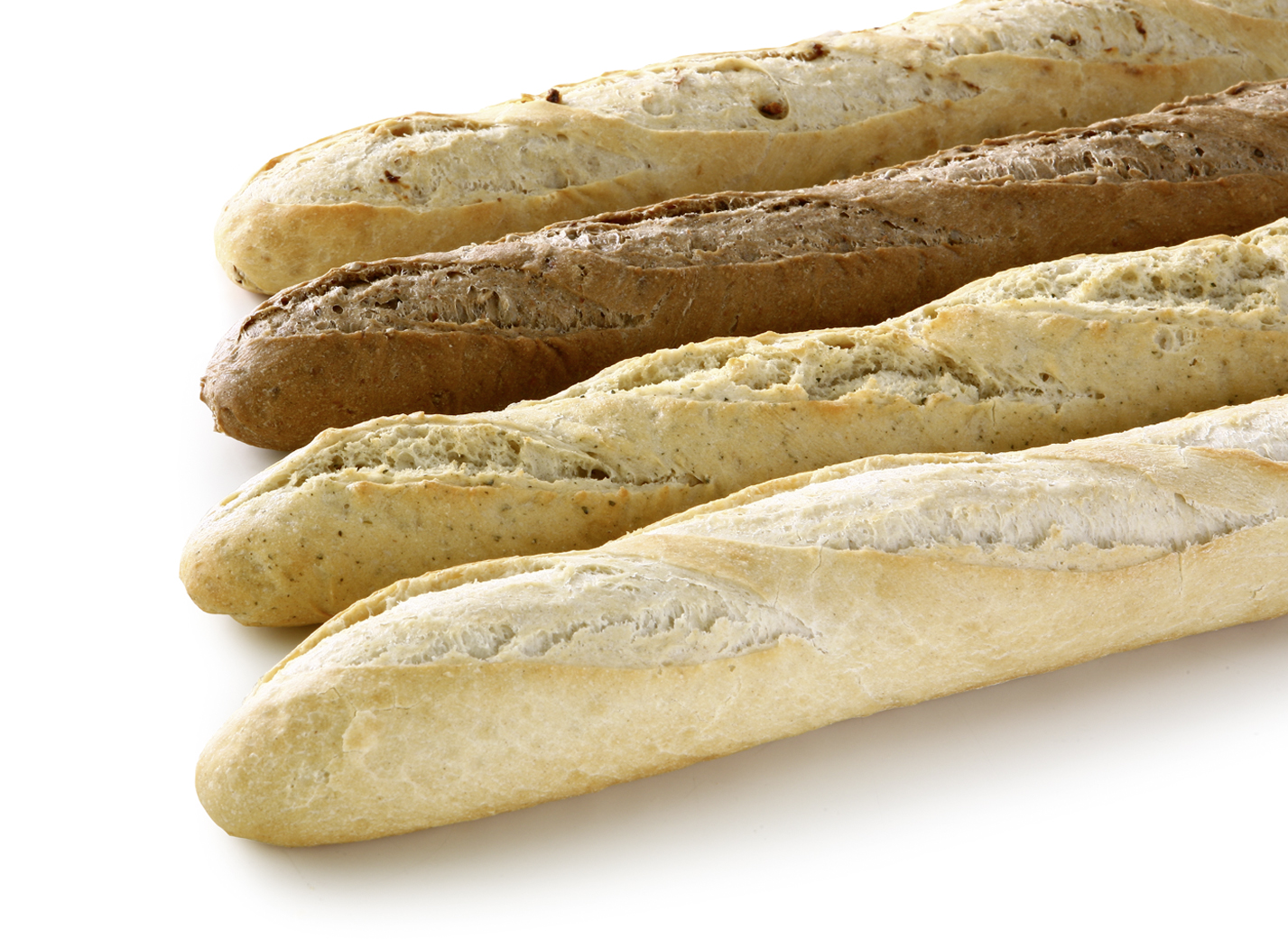 Baguette Box mix - Baguette-Mix of the varieties: baguette natural, finn baguette, garlic baguette, onion baguette