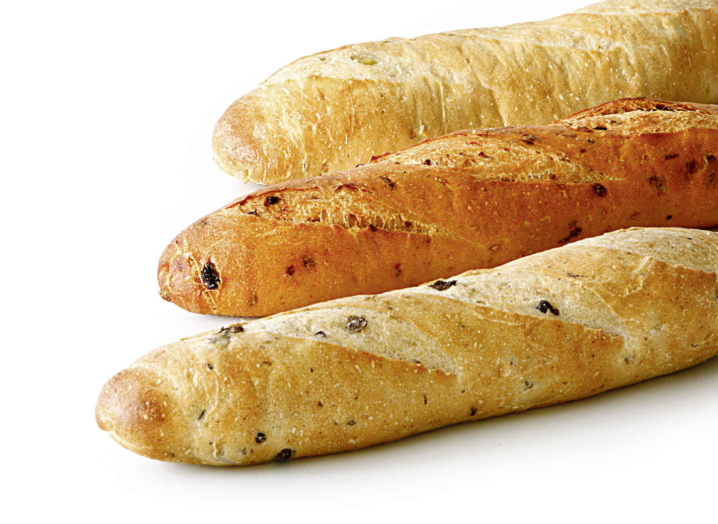 Baguette Mix - Baguette-mix of the varieties: tomato, chili and olive lenght: 30 cm