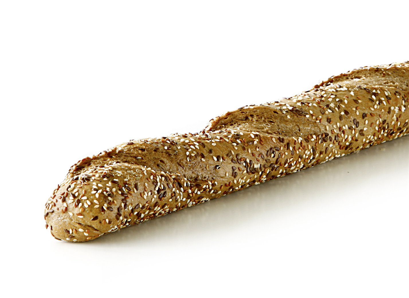 Fitness Baguette - Multigrain baguette with linseeds, sesame, sunflower seeds and oat flakes length: 52 cm