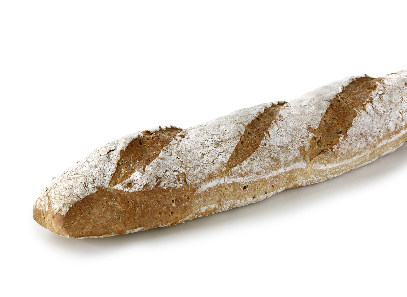 Rustic Farmer Baguette dark - Wheat bakery with oat- and ryeflakes, linseeds, millet and sunflower seeds in rustic character length: 33 - 39 cm