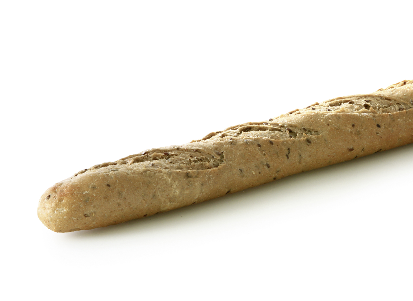 Multi Grain Fin Baguette - Multigrain baguette with oat flakes, linseeds and sunflower seeds and ryeflakes length: 56 cm