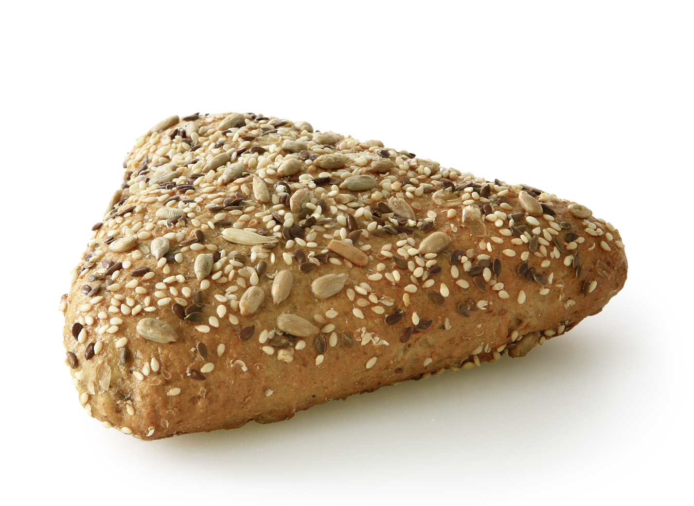 Multi-Grain Triangle - Small wheat bakery shaped triangular and sprinkled with linseeds, sunflower seeds, sesame and pumpkin seeds