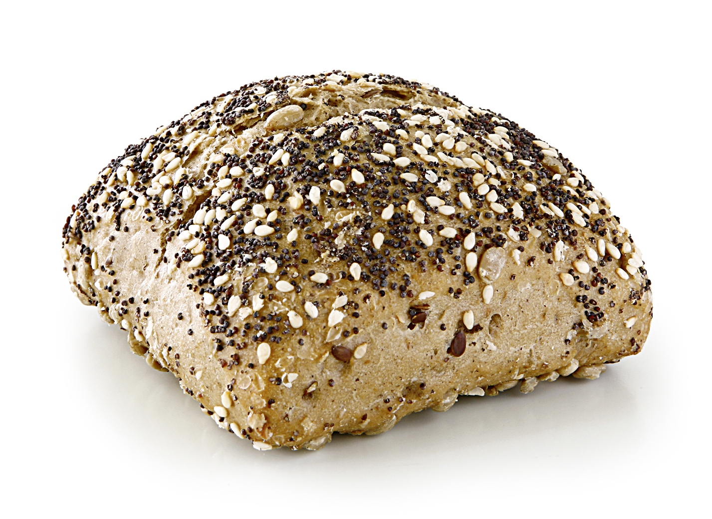 Champions Roll - Multigrain roll with sunflower kernels, oat flakes, sesame, linseeds, poppy seeds and rye flour.