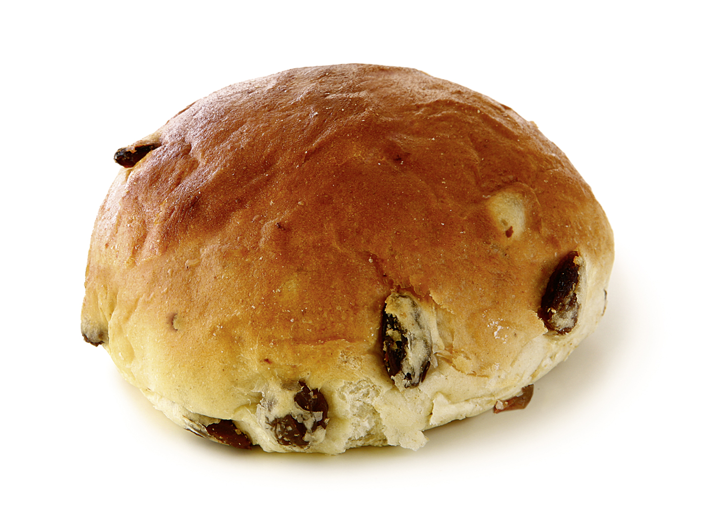 Raisin Roll - Soft wheat roll with 22% raisins/ thaw only