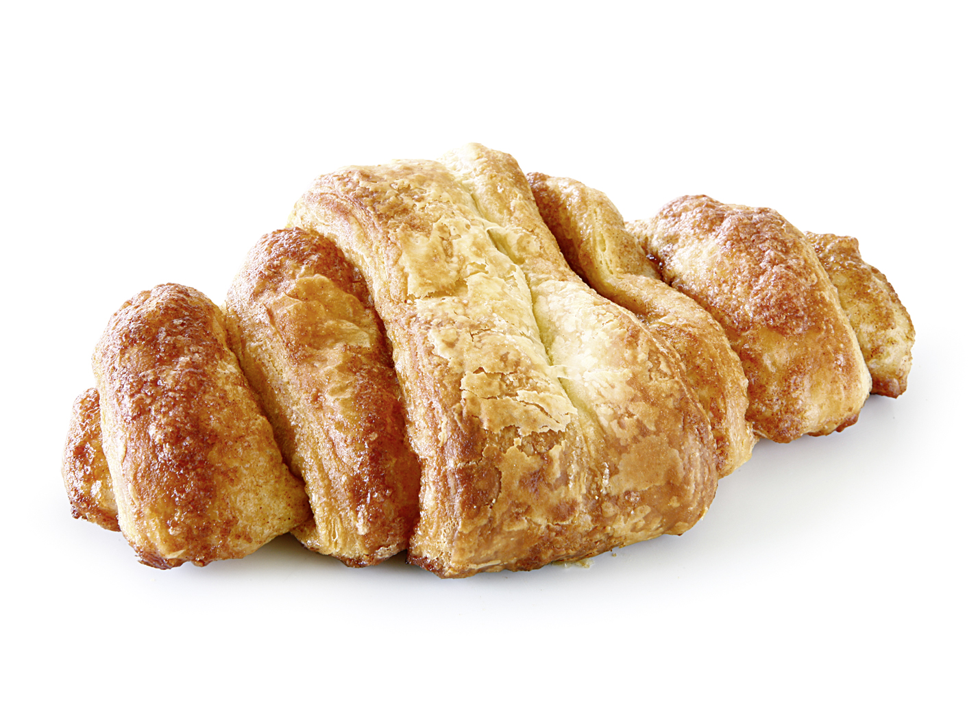 Cinnamon pastry - Puff pastry in typical wrapped look/ finished with cinnamon
