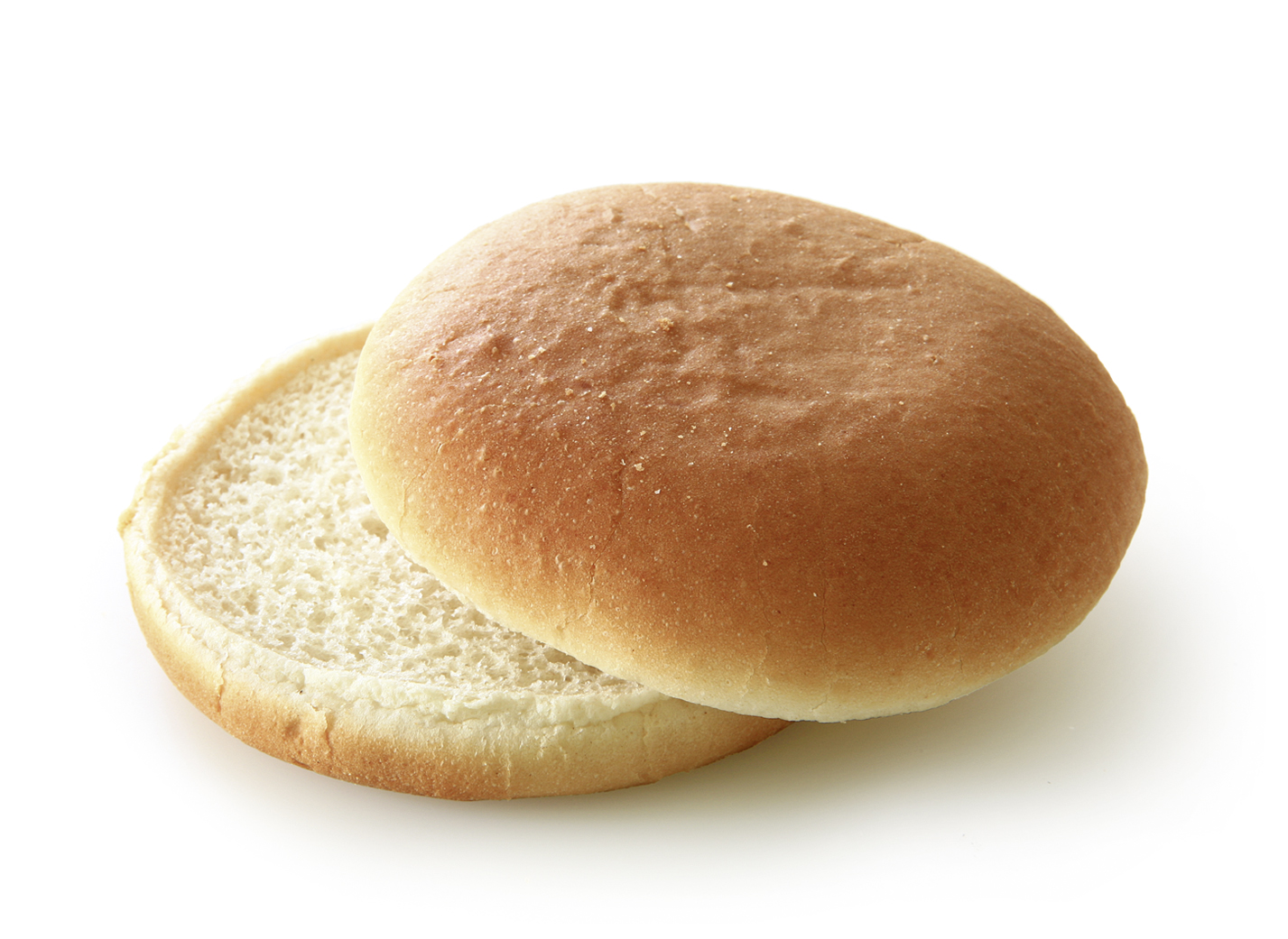 Hamburger natural, sliced - Wheat roll/ traditional shape/ thaw only diameter: 10 cm/ 4 Inches