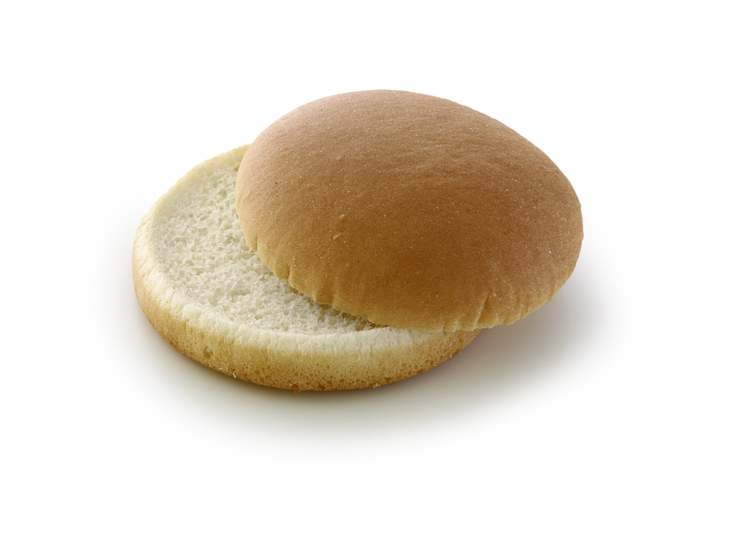 Mini Hamburger Natural - Wheat roll/ traditional shape/ thaw only/ diameter: 10 cm, 4 Inches