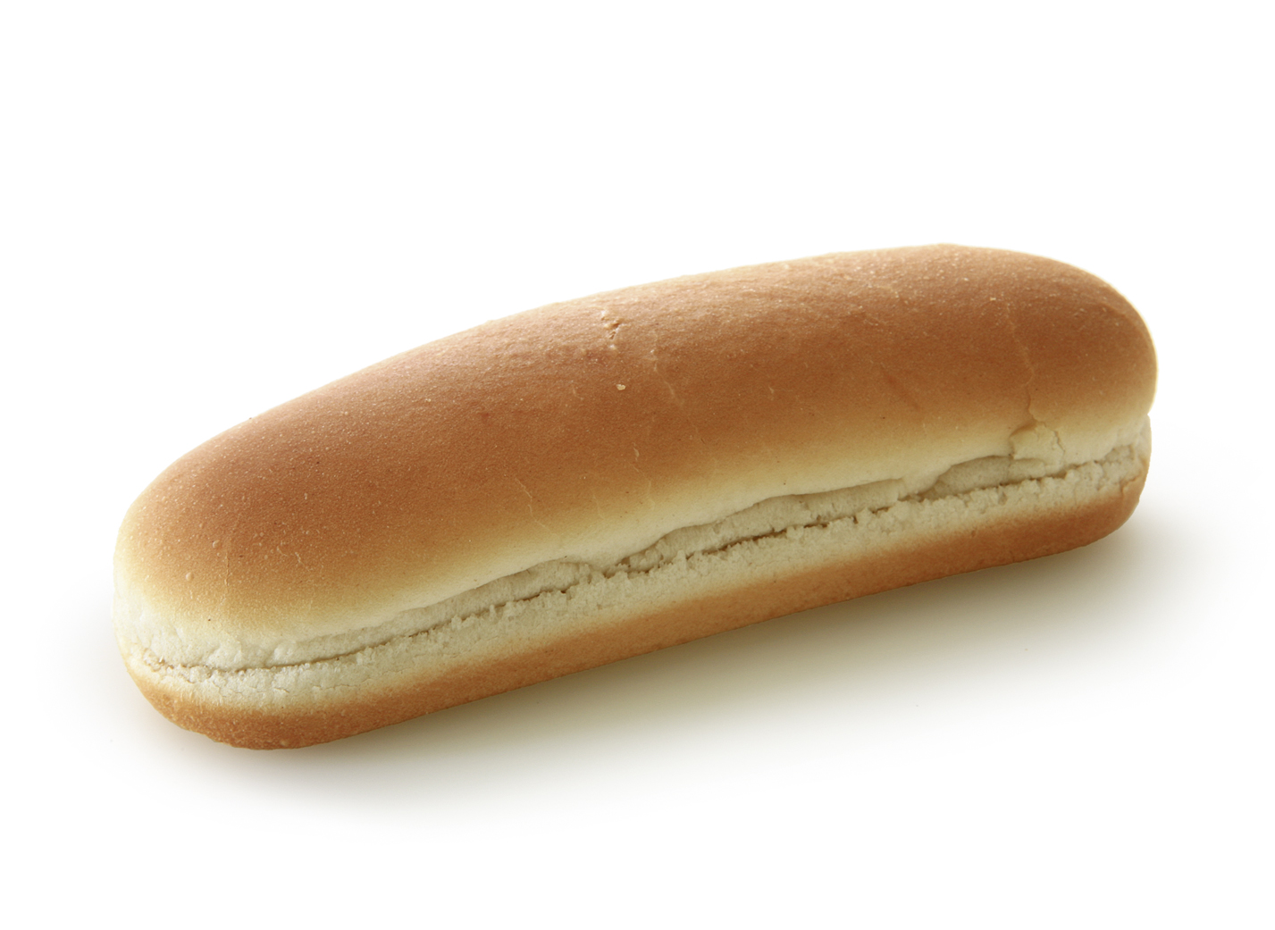 Hot Dog natural - Wheat roll/ traditional shape/ thaw only/ measures: 14.5x4.7cm