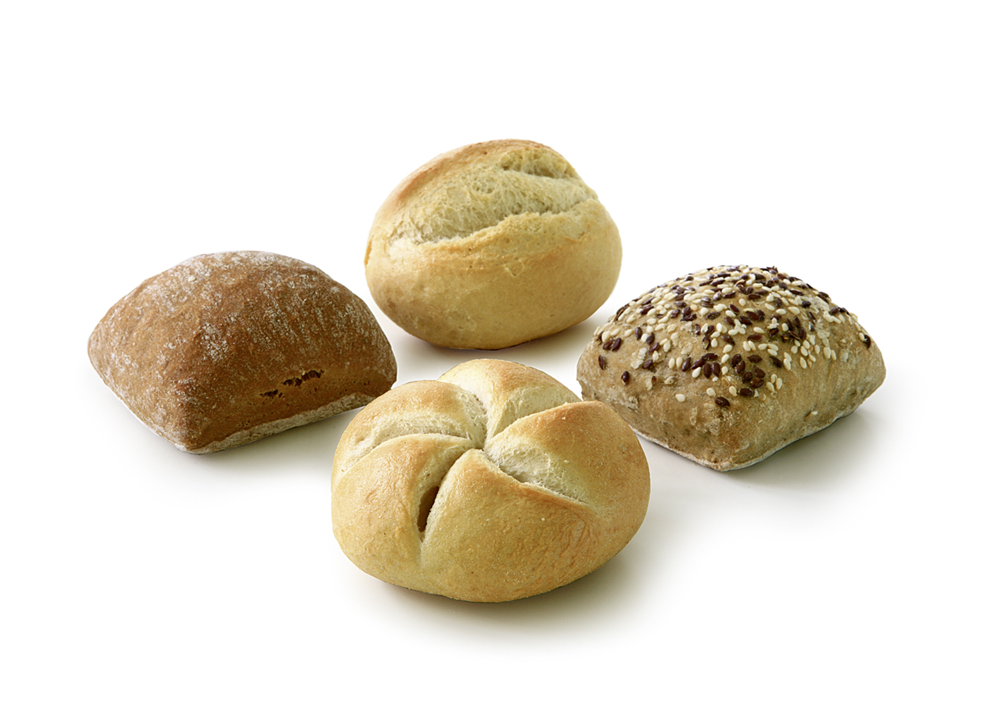 Mini Roll Variety from the Stone Oven - Mini-mix of the varieties: schusterjungs, multigrain roll, sliced roll and kaiser roll