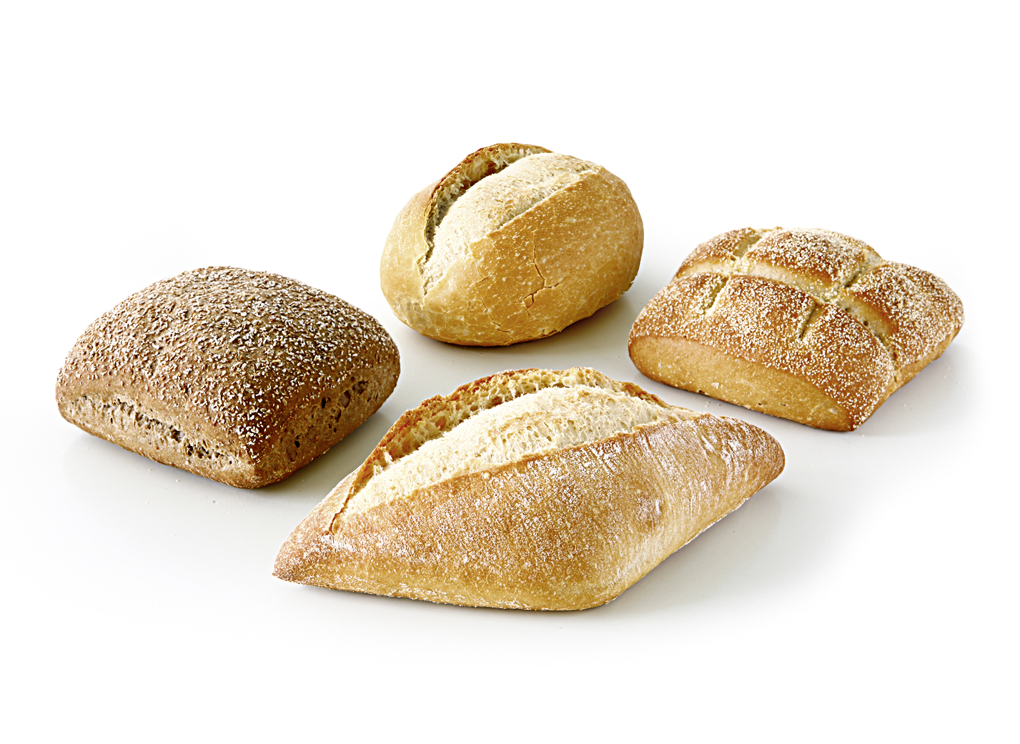 Roll Variety - XXL mix of the varieties: wheat roll, goldkrüstchen, tuscan roll and rye-farmer roll