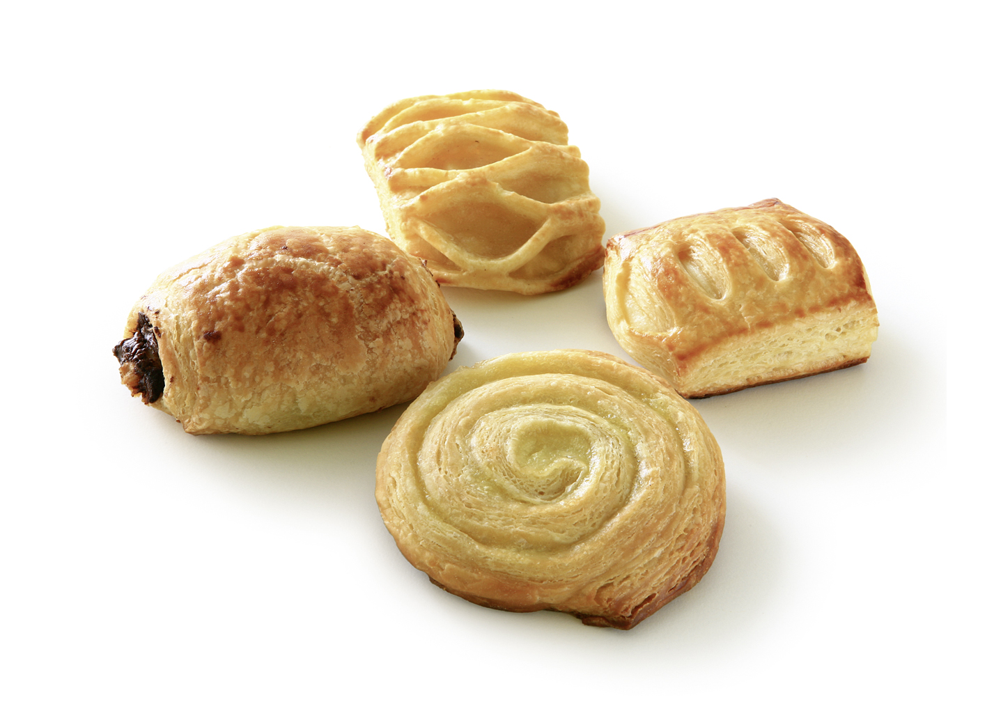 Mini Pastry Mix sweet - Mix of the varieties: apple basket, pudding snail, curd cheese basket, chocolate roll