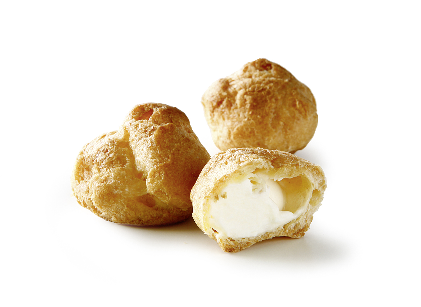 Mini filled bakery - Mini Cream Puff choux pastry with 65% cream filling/ thaw only