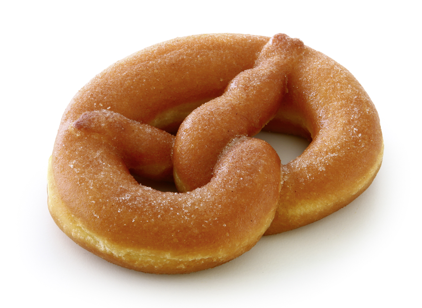Doughnut Pretzel - Simmering pastry in pretzel shape/ sprinkled with cinnamon and sugar/ thaw only