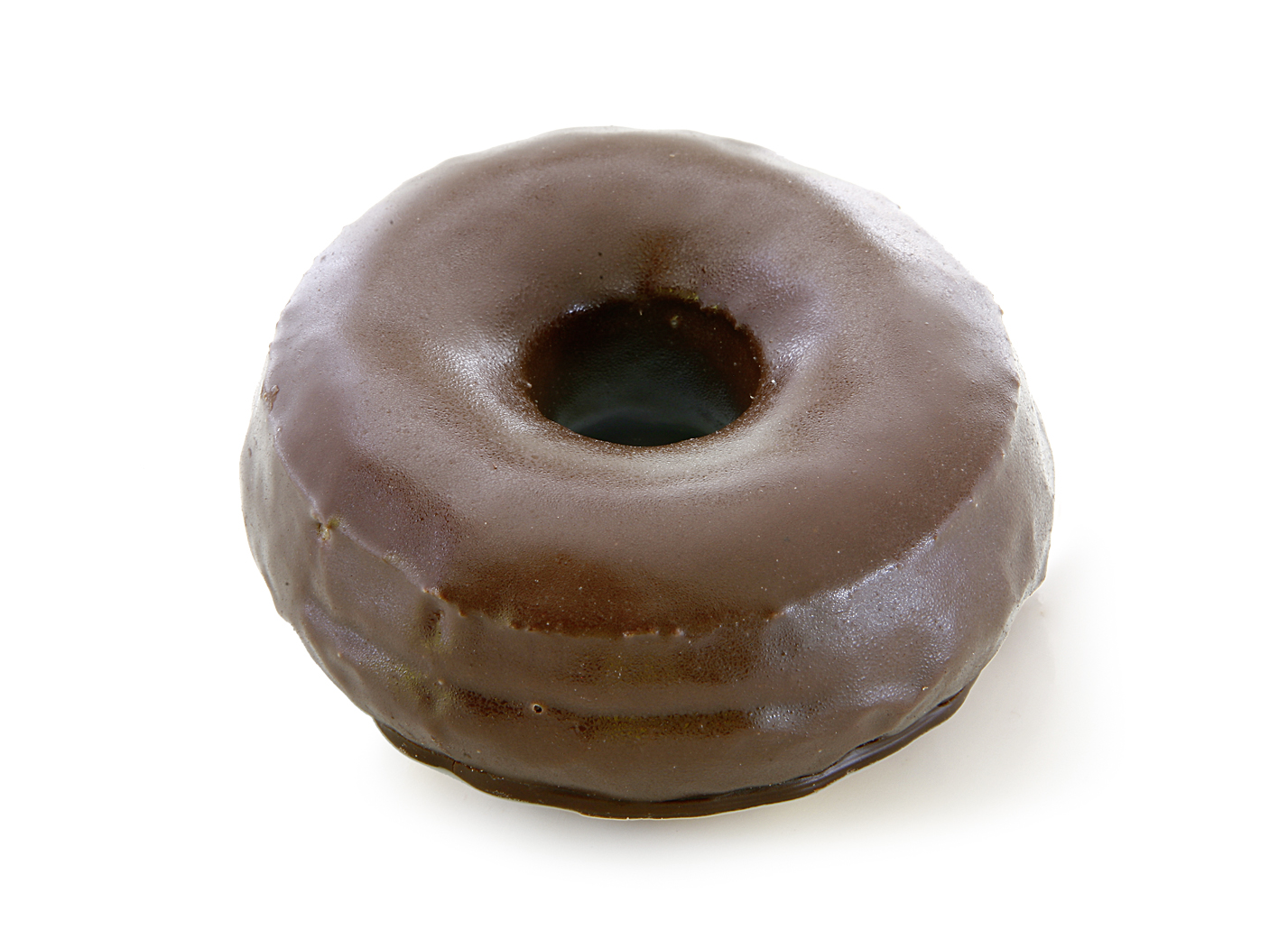 Donut Black - Fried yeast dough/ completely covered with dark chocolate coating/ thaw only/ diameter: 9.5 cm