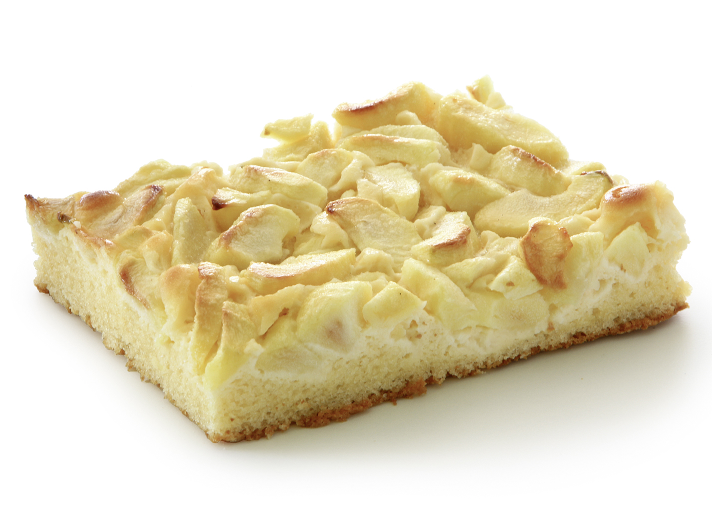 Apple cake without raisins - Pastry with 42% apples/ thaw only measures: length: 190 mm width: 135 mm height: 40 mm