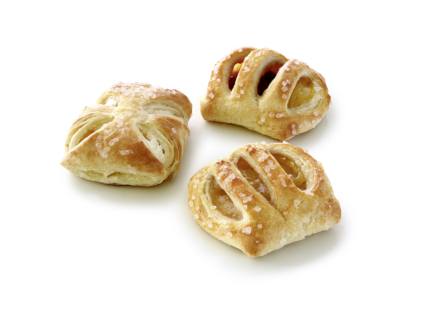 Fruity Danish Pastry Mix - Fruity Danish Pastry Mix with Apple Pastry, Cherry Vanilla Pastry and Curd Cheese Pastry
