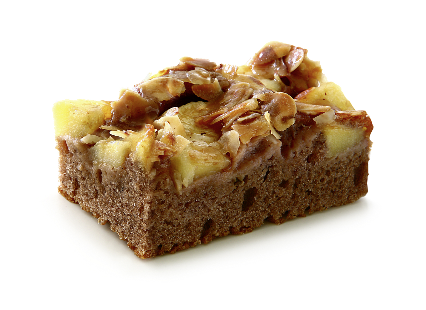 Vienna Apple Cake - Pound cake with 30% apples, almonds, walnuts, hazelnuts and decorated with caramelized fondand.